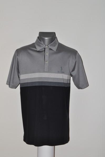 Masters, Polo, schwarz, grau, stripe,