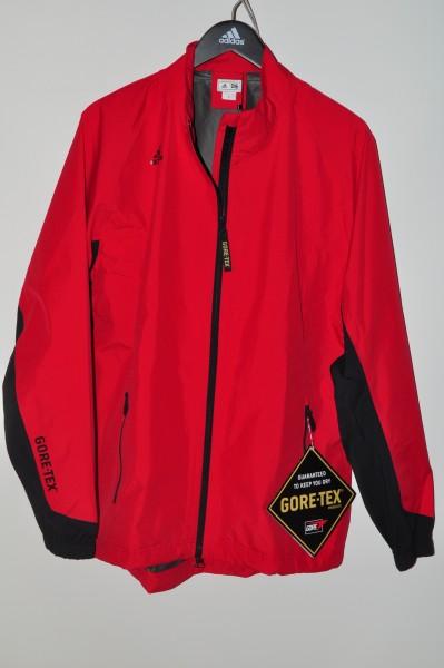 Adidas, golf Regenjacke, Rot, 100% Polyester, Gor-Tex, ClimaProof, 1/2 Zip