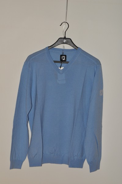 FootJoy, golf mode herren Merino, Pullover, hell.blau