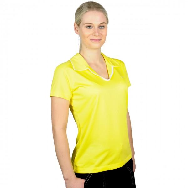 Nike Poloshirt gelb ohne Knöpfe