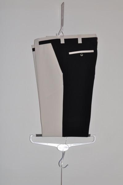 herren golf mode Masters, golfhose, Coolmax, stretch, schwarz/weiss