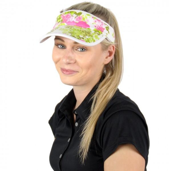 Masters Golf-Visor-w-blum-grün
