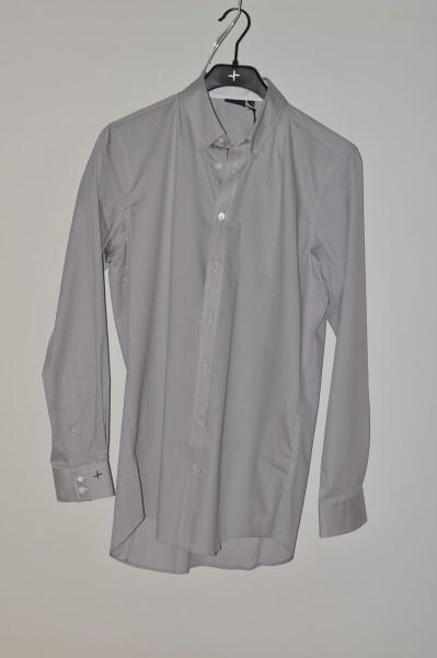 Cross, Golf mode hemd Strech, stripe, opal gray, langarm