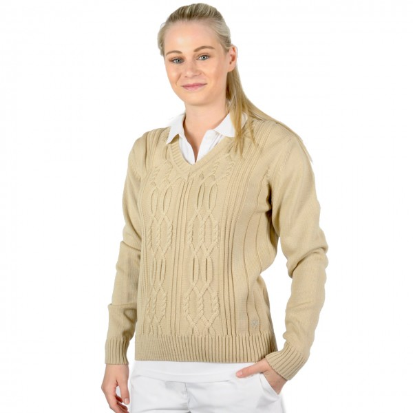 Masters, Golf Pullover, beige,Strick Merino, easy care