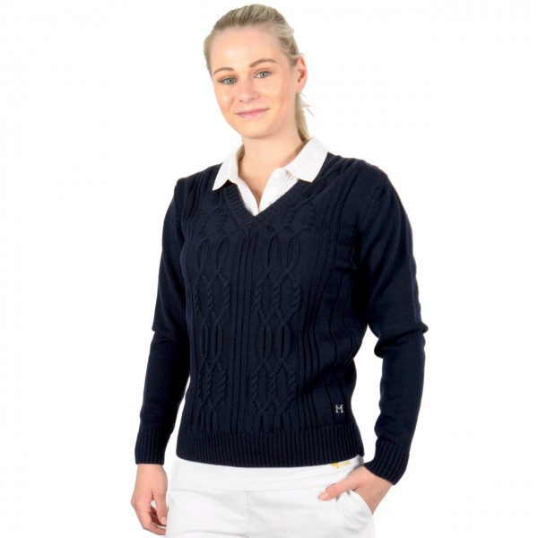 Masters, golf mode Pullover, Strickmerino, blau, easy care
