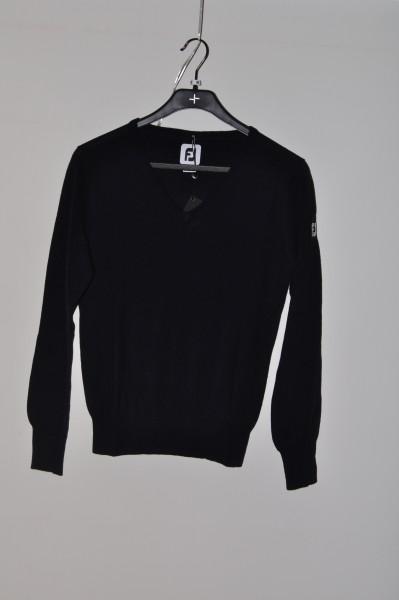 FootJoy,100% Merino, golf mode Pullover, schwarz