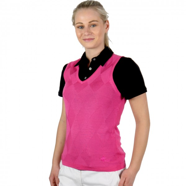 Cross Pullunder Mix Knit pink