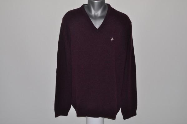 Cross, Pullover, Plum, Wolle