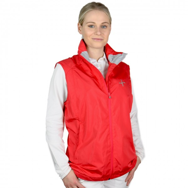 damen golf mode Cross, Cyclone Vest, Windbreaker, rot