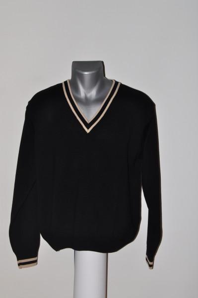 Masters, golf mode herren Strick Merino, Pullover, schwarz