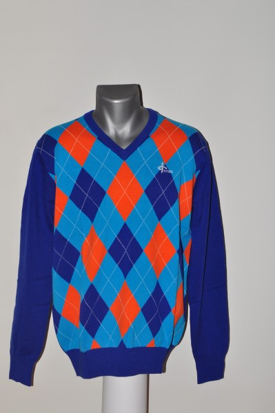 Cross,Cotton, Pullover, Blau