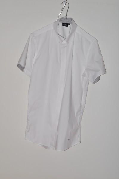 Cross, Golf mode hemd Strech, weiss, kurzarm