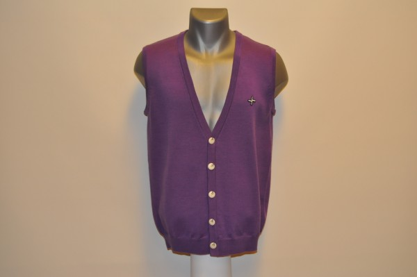 Weste, Cotton, purple