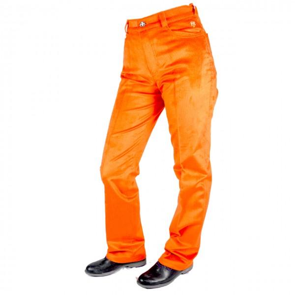 Masters, Golf Jean, Cord, strech, orange Damenhose