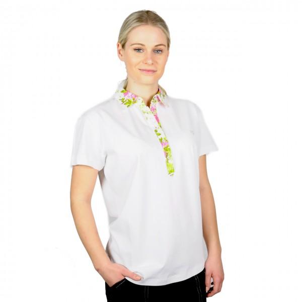 Blumenkragen Frauen Poloshirt