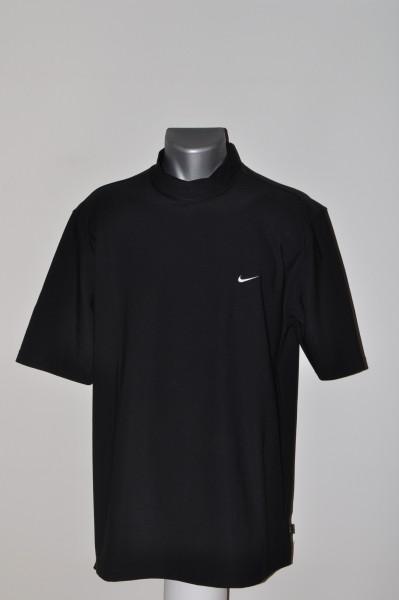 Nike, Polo, Fit Dry, Mock, schwarz