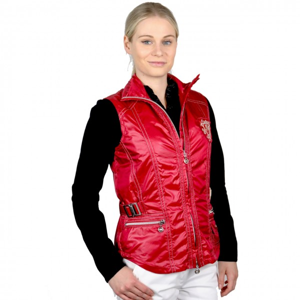 damen golf mode Masters, Gilet,High Tech Comfort, Windbreaker, rot
