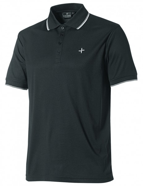 Cross Polo, schwarz,Coolmax