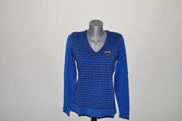 Cross Pullover Iva blau