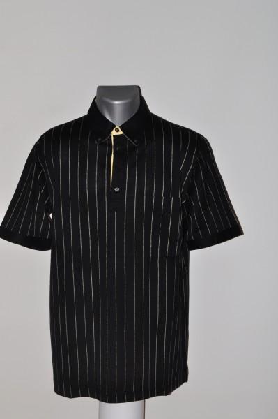 Masters, Polo, schwarz, stripe, Filoscozia