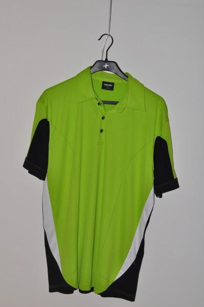 Galvin Green, golf mode Polo, schwarz/grün/weiss, stretch,