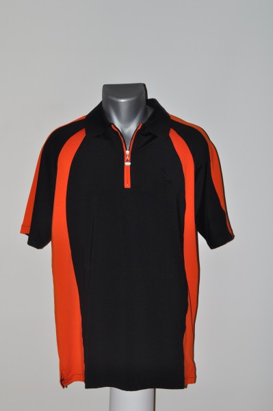 Masters, Polo, Coolmax, schwarz, orange