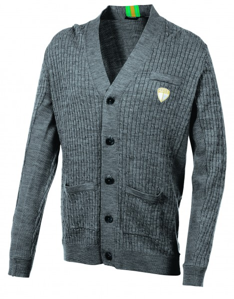 Cross Weste, Cotton, Cardigan, grau