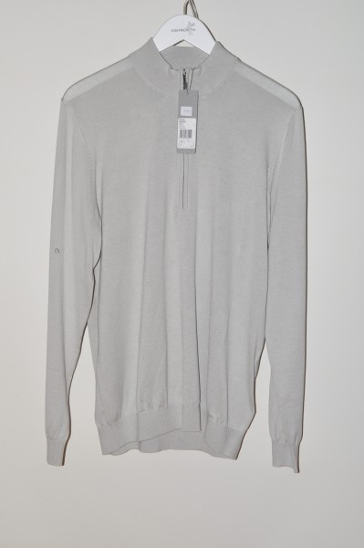 Ashworth, golf Sweater, 100% Cotton, pebble gray