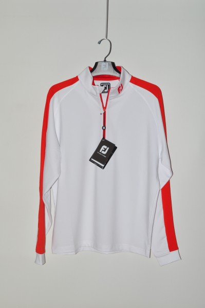 FootJoy, golf mode Sweater, Strech, weiss orange