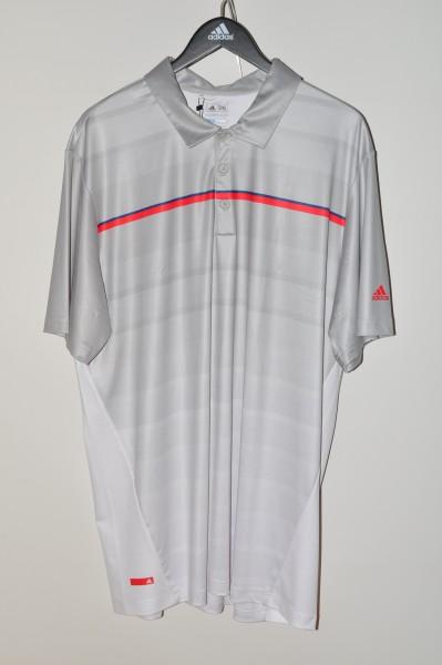 Adidas golf Puremotion Polo, coolmax, hellgrau-weiss