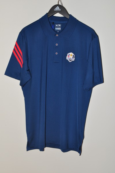 Adidas golf Ryder Cup Polo, Stripe, blau-orange, coolmax