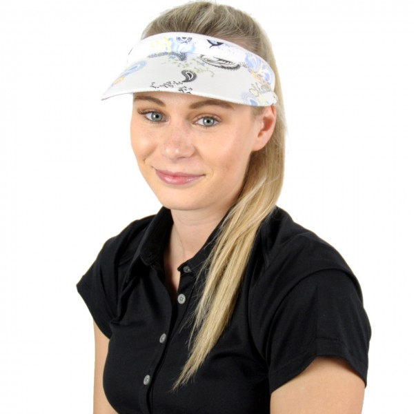Masters Golf-Visor-w-blum-blau