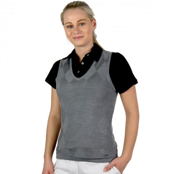 Cross Pullunder Mix Knit grau