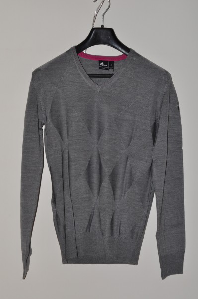 Cotton, golf mode Pullover, Gray