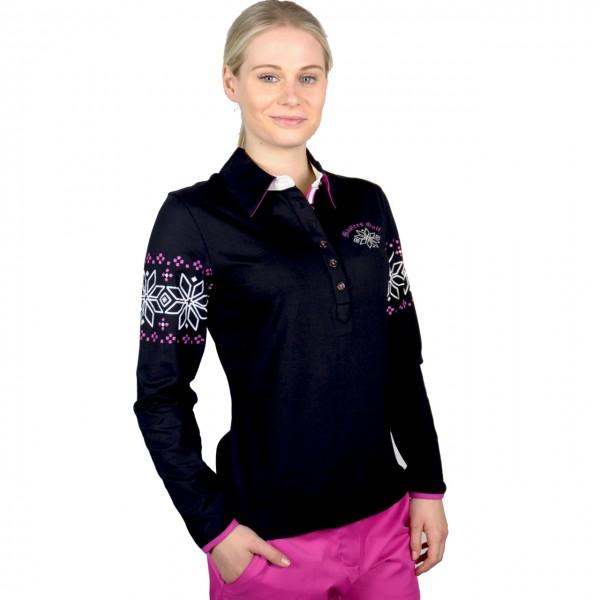 Masters Langarm Sweater Polo Kragen