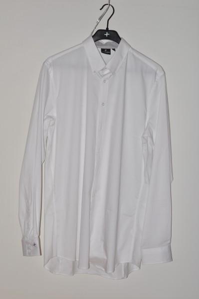Cross, Golf mode hemd Strech, weiss, langarm