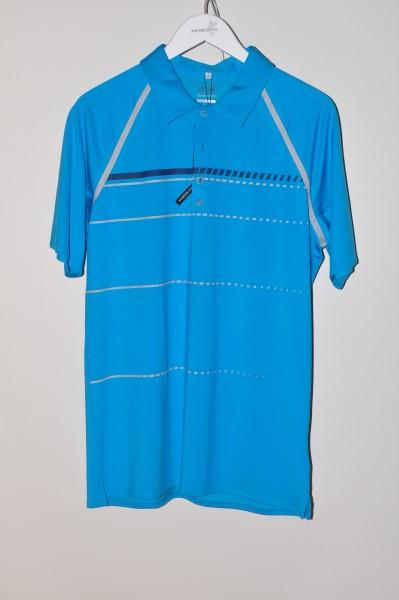 Adidas golf Puremotion Polo, coolmax, solar blau