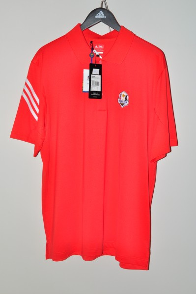 Adidas golf Ryder Cup Polo, Stripe, Rot-weiss,coolmax