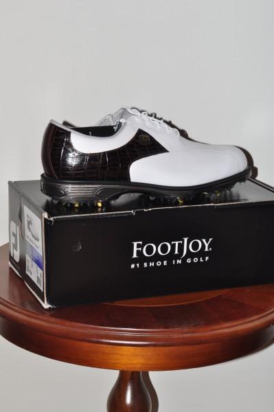 Foot Joy Dry Joys Herrn Golf Schuh weiss