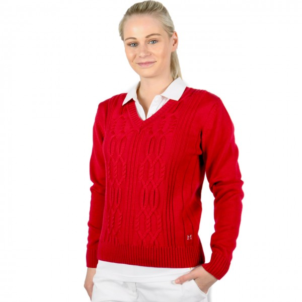 Masters, Golf mode Pullover, rot, Strick Merino, easy care