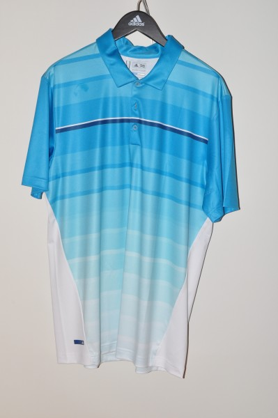 Adidas golf Puremotion Polo, coolmax, hellblau-weiss