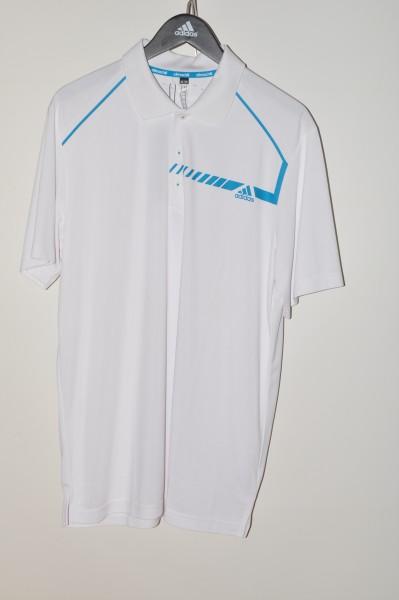 Adidas Climachill Polo, weiss- blau
