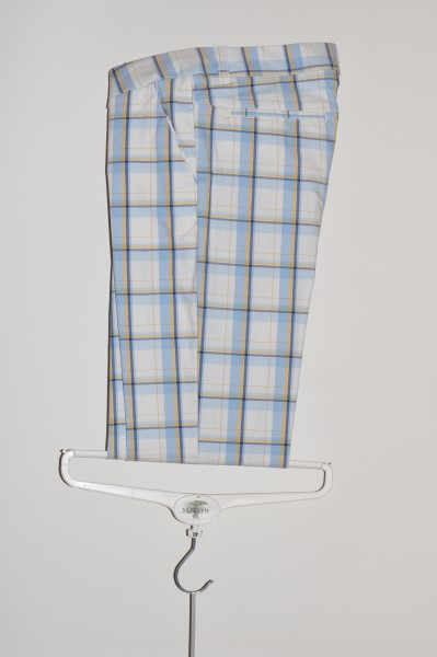 Cross, Hose, Chino, weiss tartan